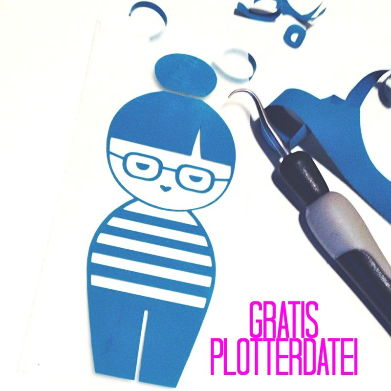DIY – Blogger-Kokeshi {Free Plotter-Datei}
