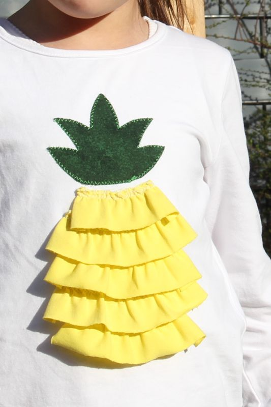 Ananas-Shirt DIY 3