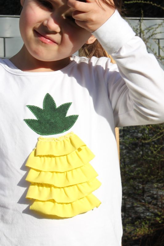 Ananas-Shirt DIY