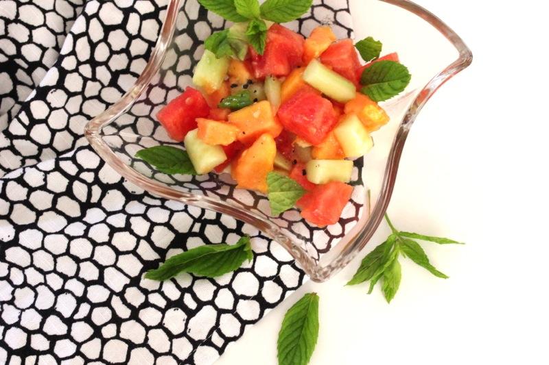 MMI #2 -(Melonen-Avocado-Minze-Sommer-Salat}