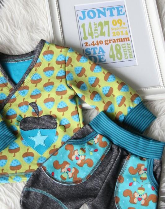 Babyoutfit  – Miniaturnähen für das Patenkind… Werbung