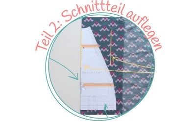 kleine Nähschule – {Wie kommt der Schnitt auf den Stoff – Teil 2: Auflegen des Schnittes}