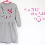 Patternhack MAILAND – {Aus Shirt wird Kleid in 3 Schritten}