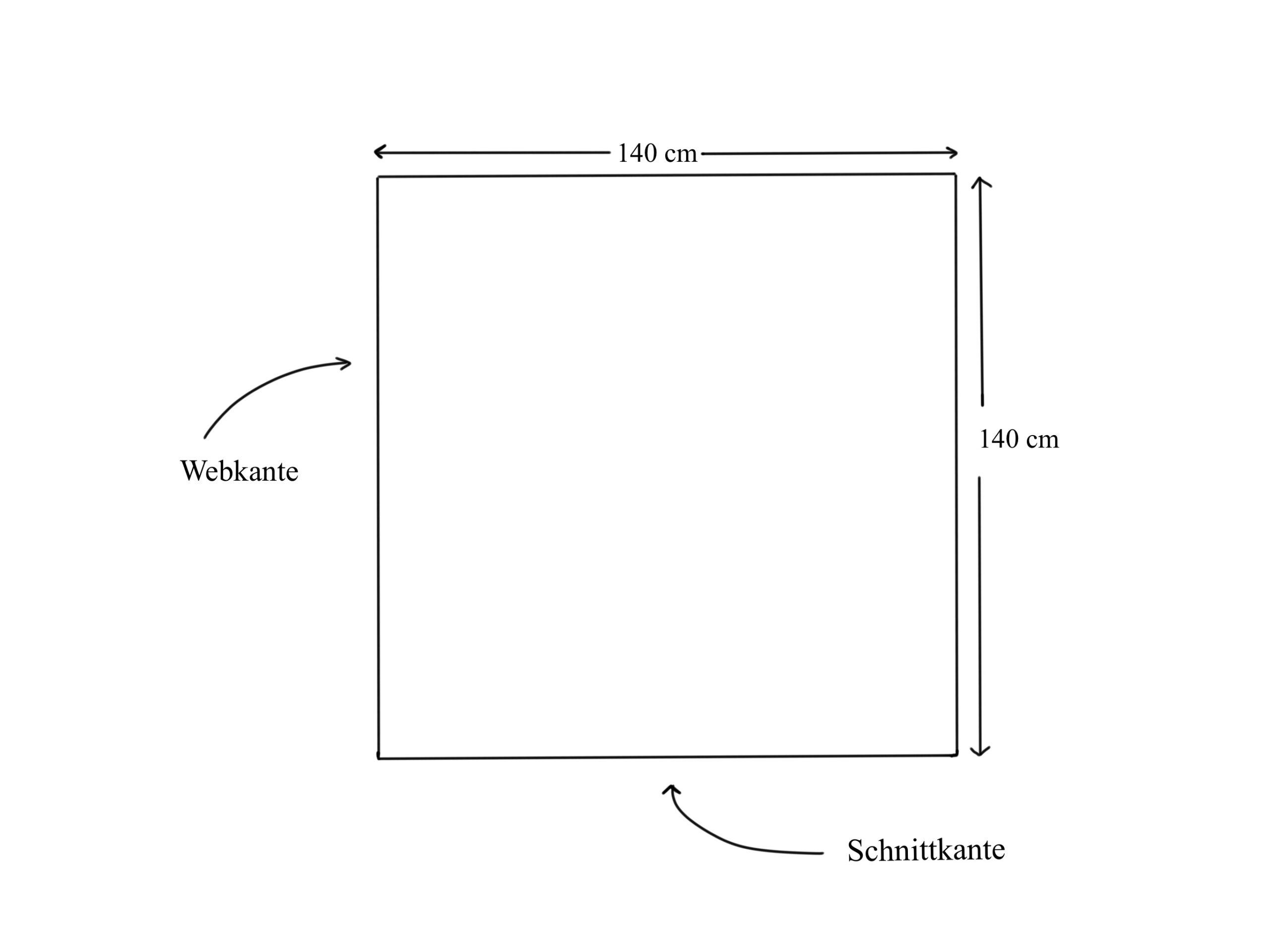 Nähanleitung: Dreieckstuch nähen