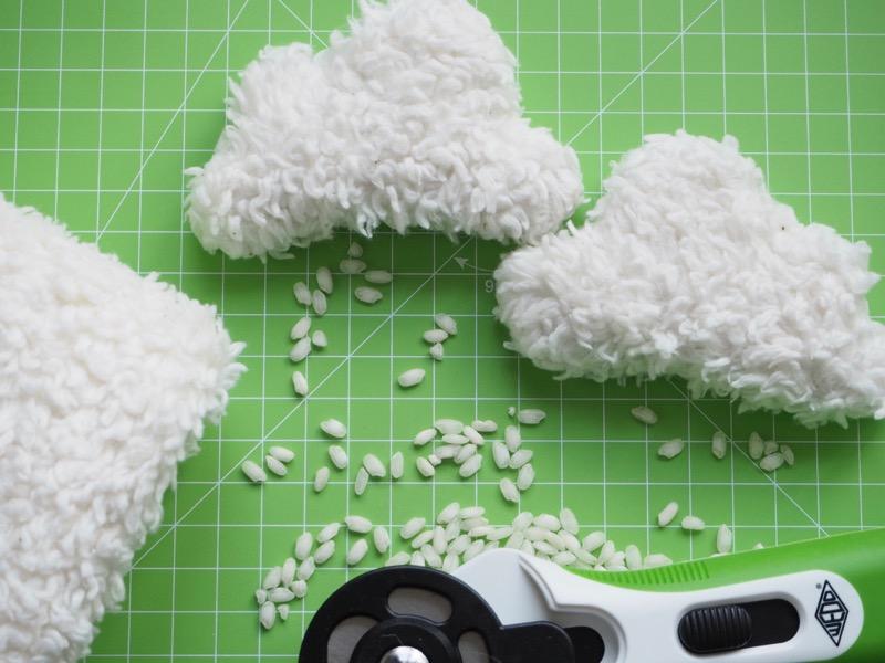 DIY Handwärmer nähen - Wendeöffnung schließen