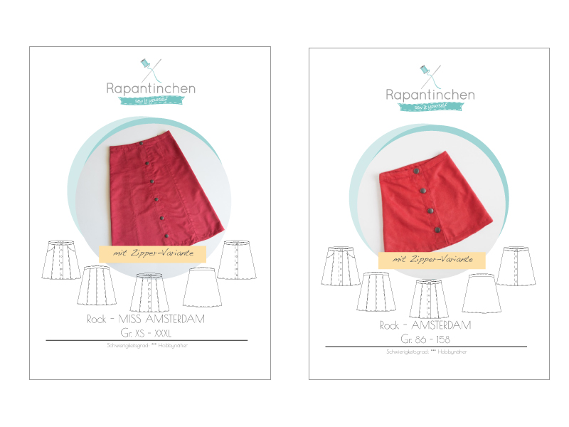 {Neues Ebook} – Schnittmuster Knopfrock Amsterdam & Miss Amsterdam
