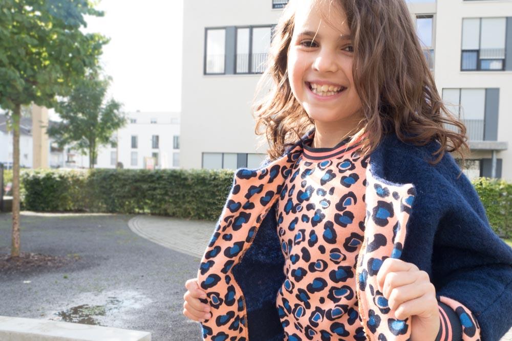 {genäht} – Herbsttrend Animalprint: Outfit für die Tochter