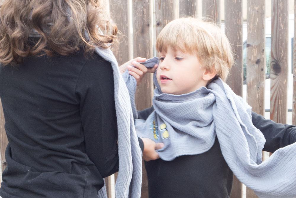 Schal mit Patches für Kids