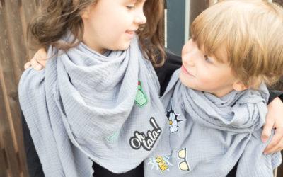 {genäht} – Dreieckstuch mit Patchtrend für Kids *Werbung*