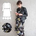 Patternhack Miss London: Rüschenkleid mit Ballonarm und Taillierung nähen