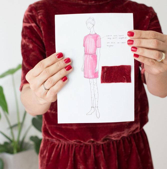 {genäht} – Mein neues Winterkleid aus Samt
