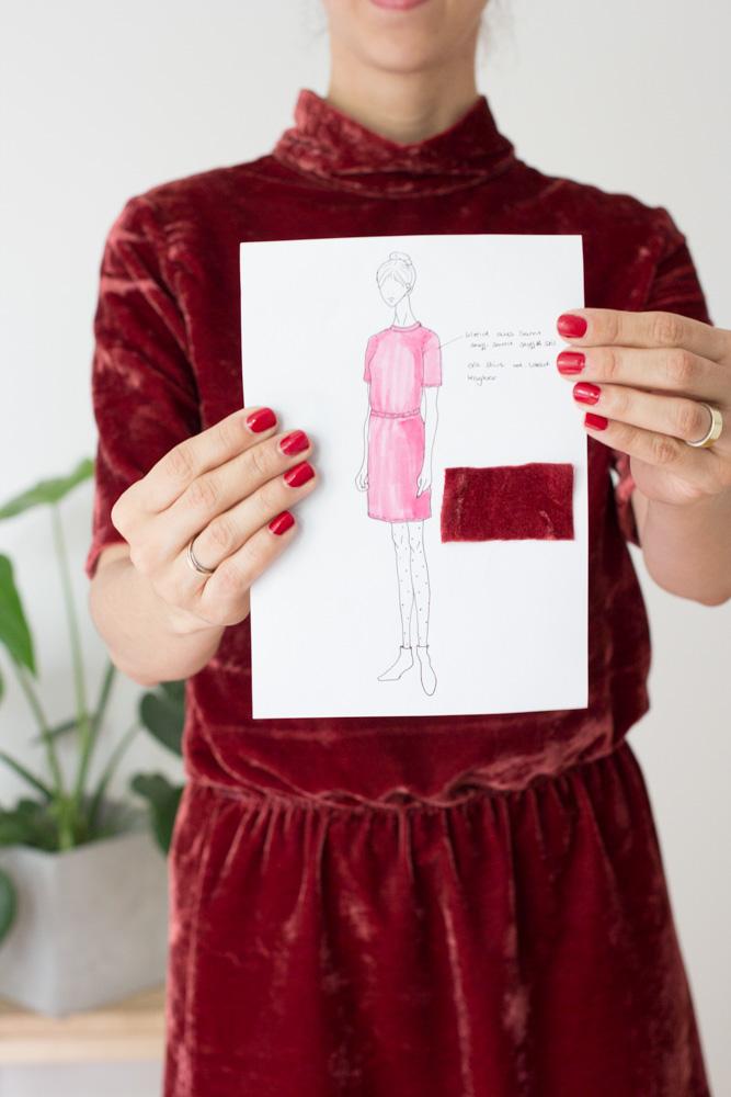Winterkleid aus Samt