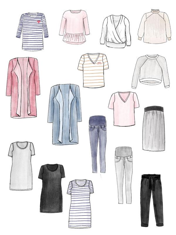 Capsule Wardrobe - Colorieren