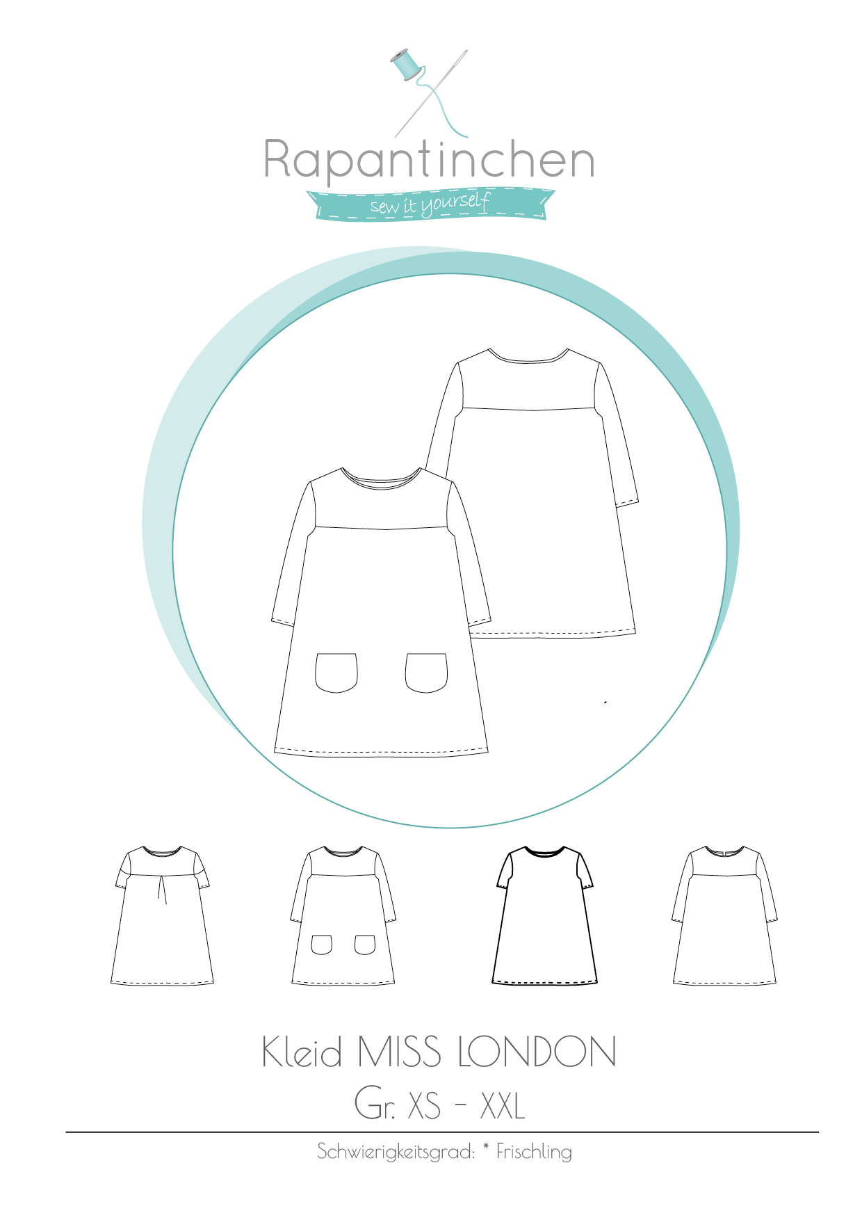 Schnittmuster für selbstgenähte Kleidung