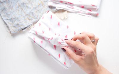 Zero Waste Geschenkpapier aus Stoffresten