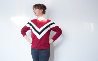 Colorblocking selbst genäht mit dem Sweater Wrapped