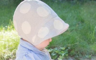 Sommerhut für Babys aus Musselin