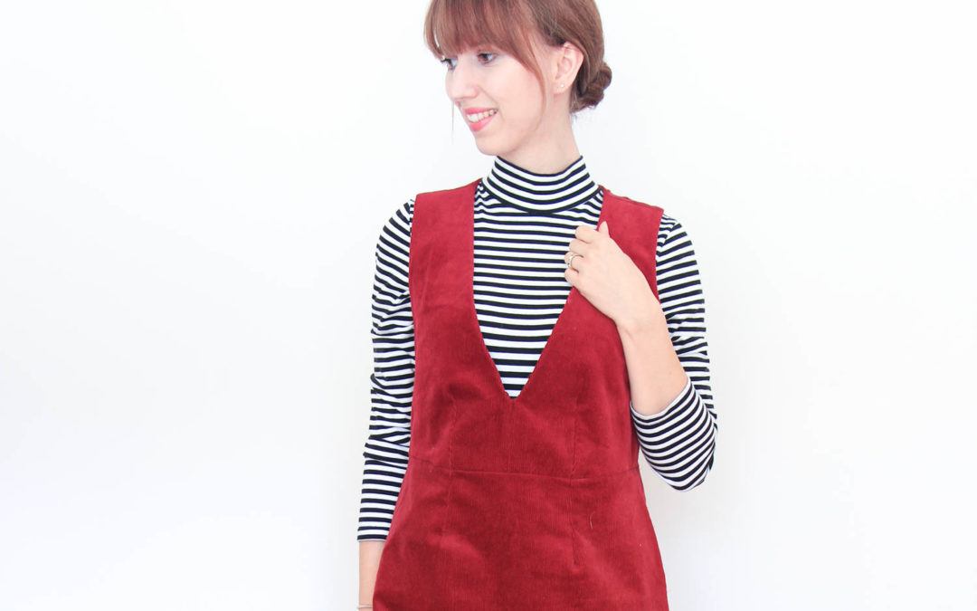Winter Capsule Wardrobe – Mein  Latzkleid aus Cord