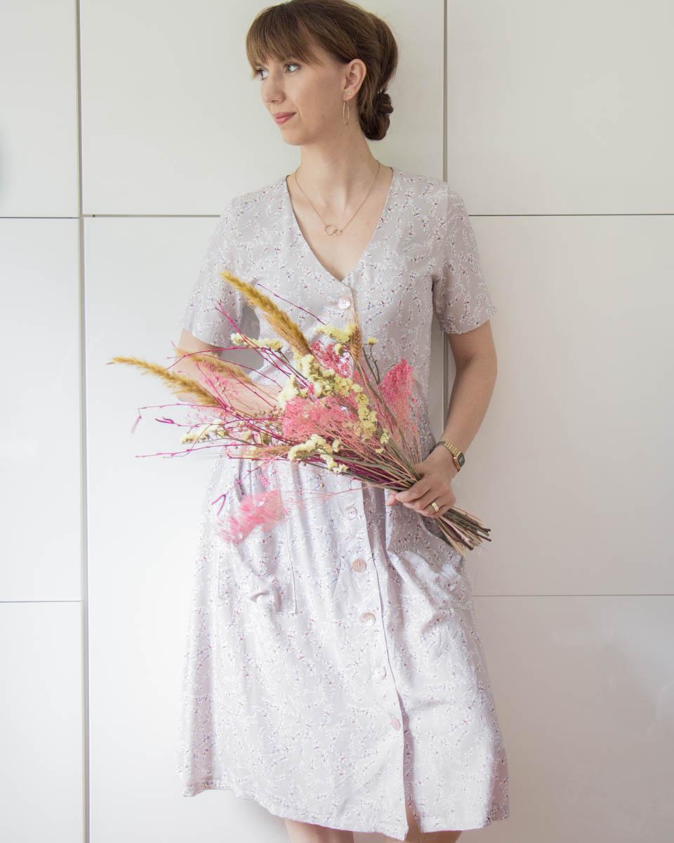 Kleid Paris aus Viskose mit Streublumen