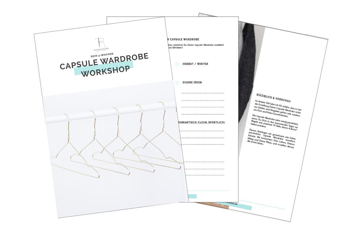 Dein digitaler Capsule Wardrobe Workshop. Plane Deine Garderobe Schritt für Schritt und nähe Deine Lieblingskleidung selbst.