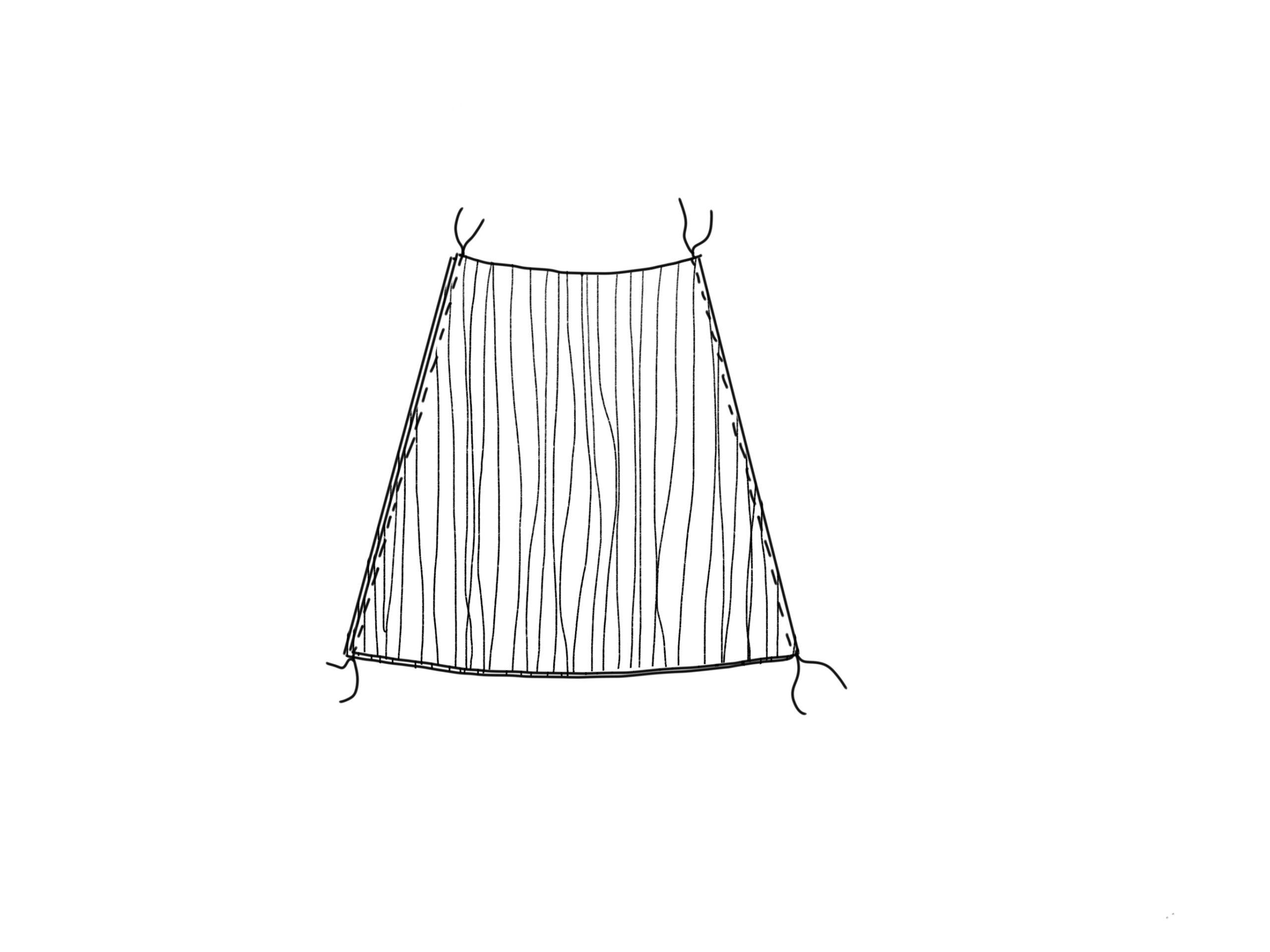 Nähanleitung Plisseerock - Schnittmuster erstellen