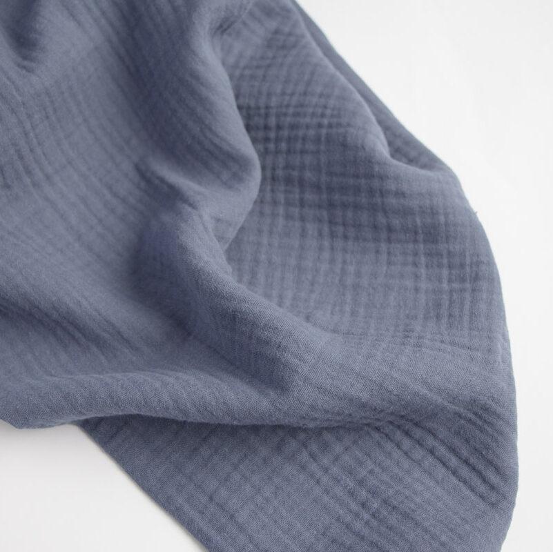Double Gauze oder Musselin in jeansblau
